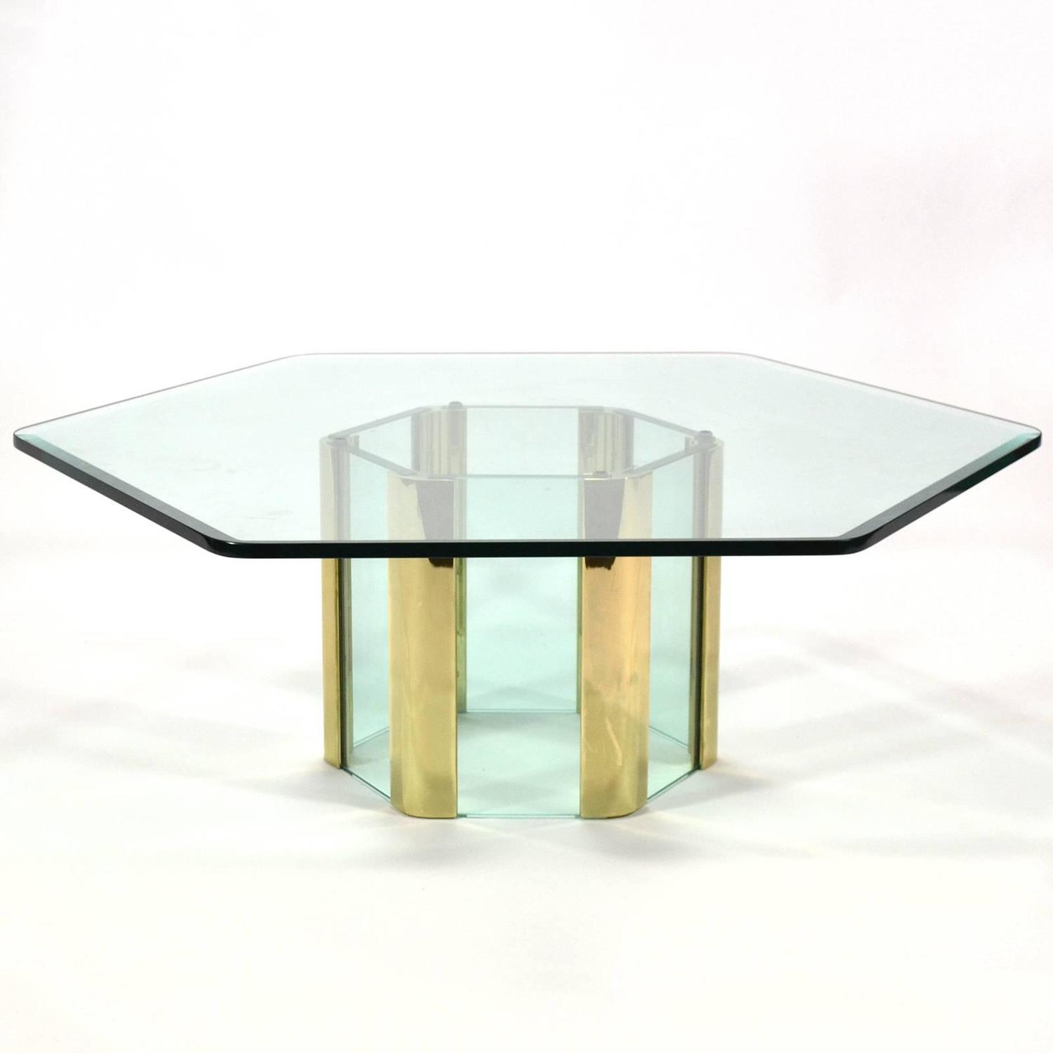 Pace Coffee Table With Hexagonal Designed By Leon Rosen For Sale At 1stdibs