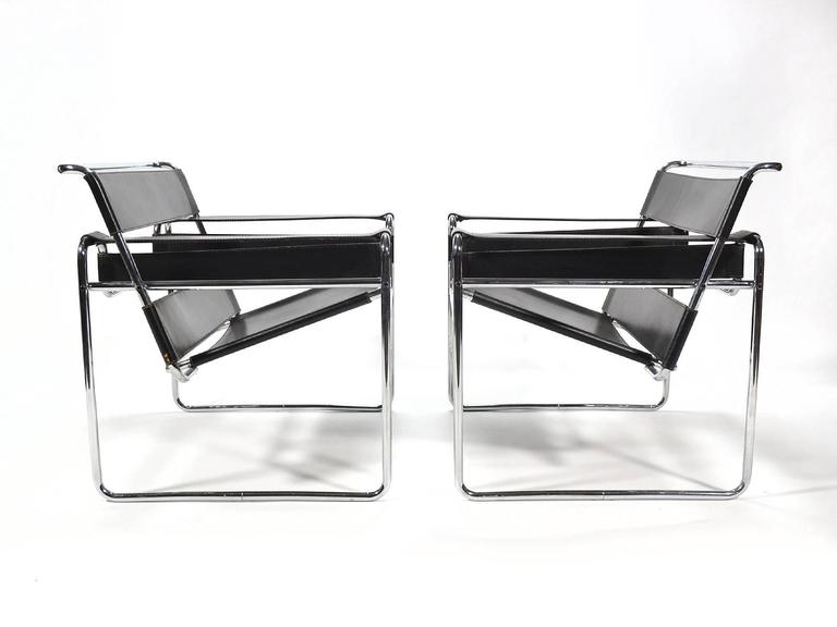 American Marcel Breuer Pair of Early Wassily Chairs by Knoll For Sale