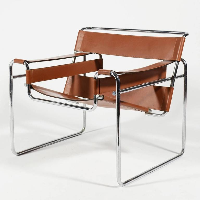 Marcel Breuer Pair of Early Wassily Chairs by Knoll For Sale 3