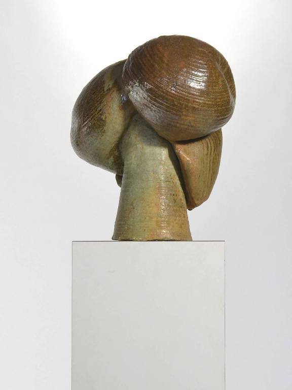 American Abstract Stoneware Sculpture For Sale