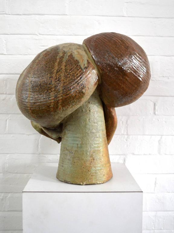 Abstract Stoneware Sculpture In Good Condition For Sale In Highland, IN