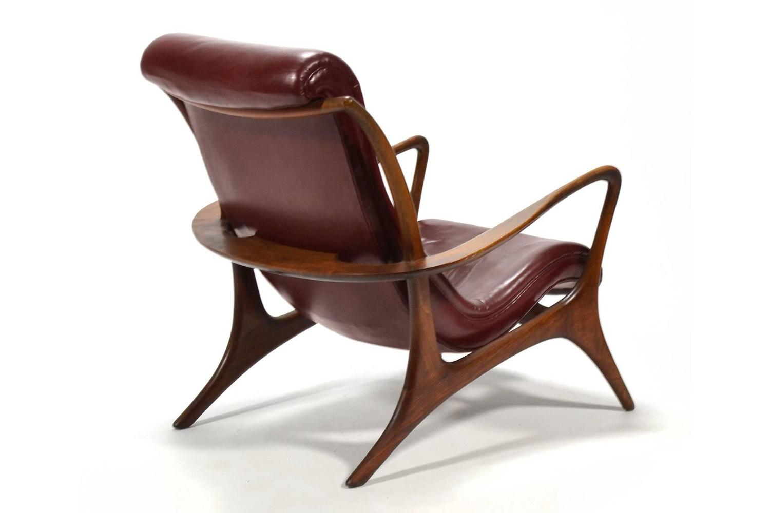 Vladimir Kagan Contour Lounge Chairs and Ottoman For Sale at 1stdibs