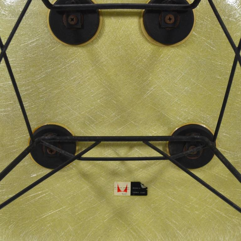 Eames Lemon Yellow Zenith Rope-Edge, RAR Rocker by Herman Miller 9