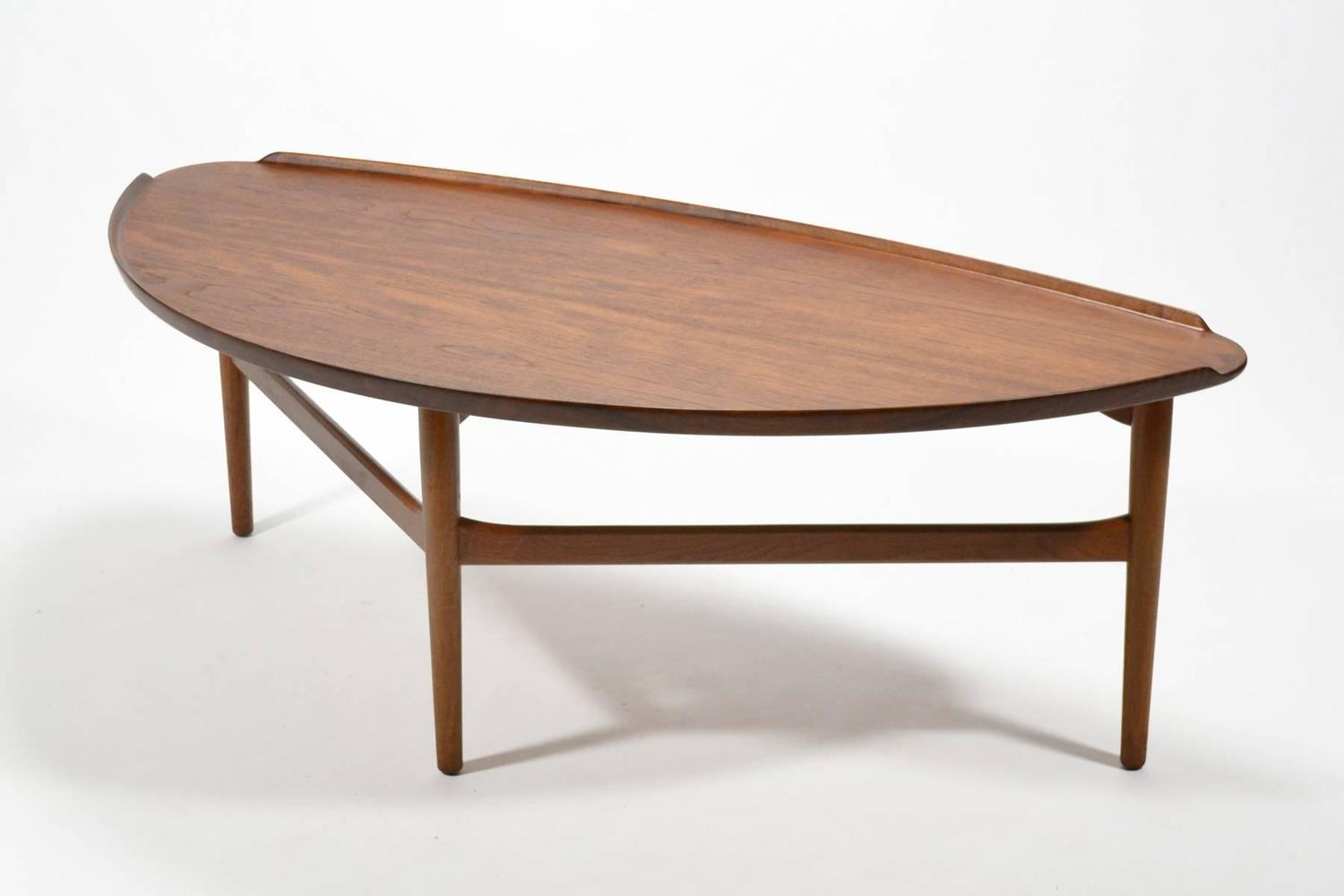 Finn juhl teak coffee table by baker at 1stdibs Baker coffee table
