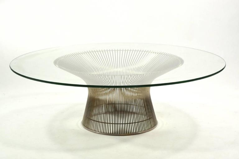 warren platner coffee table by knoll at 1stdibs