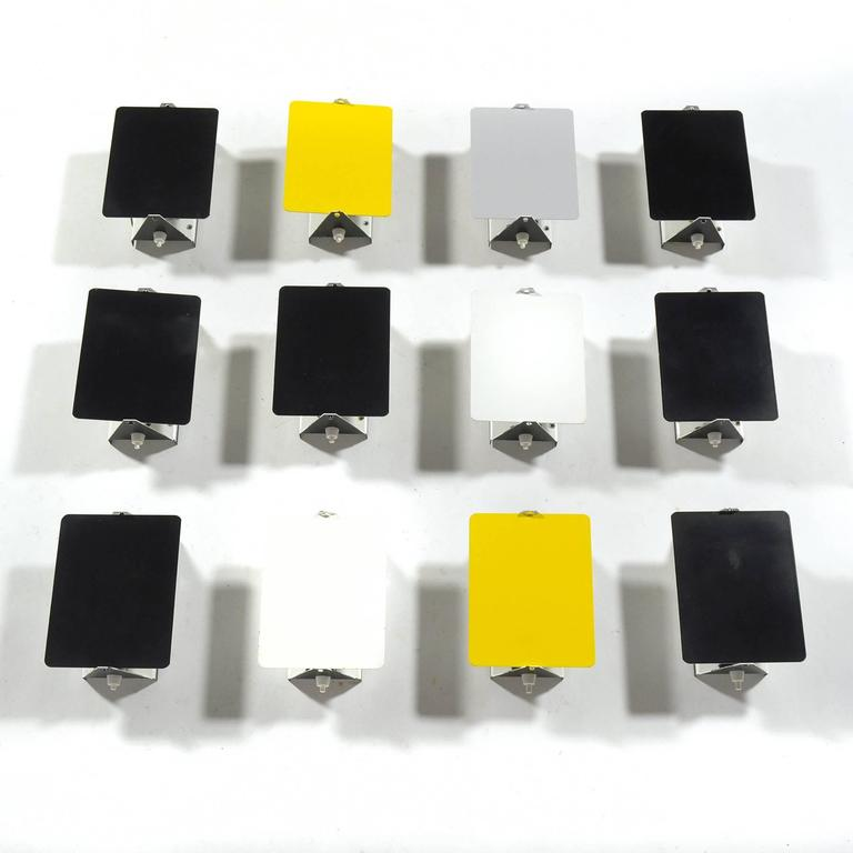French Charlotte Perriand Rare Set of 12 CP-1 Wall Lamps