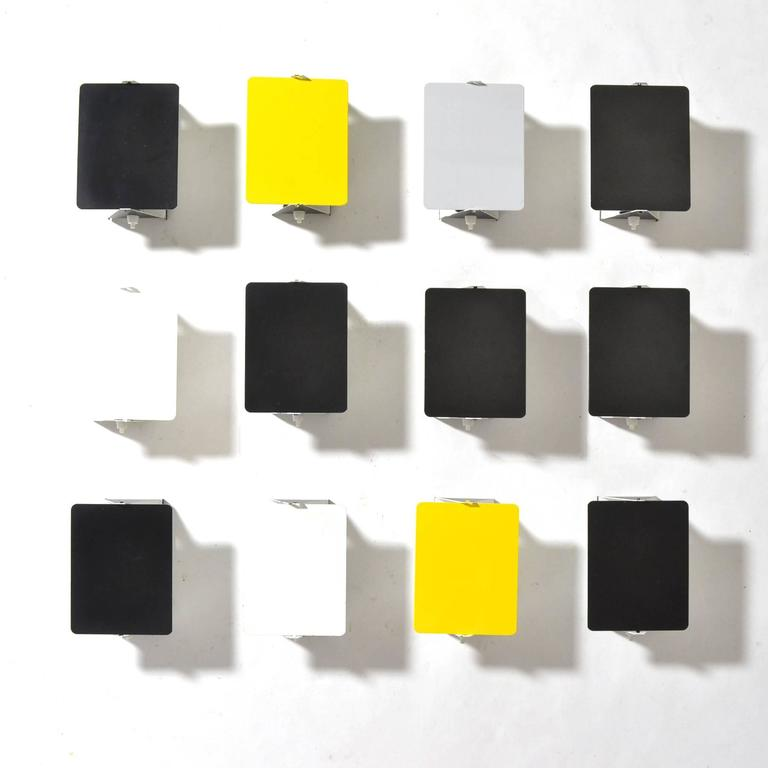 Painted Charlotte Perriand Rare Set of 12 CP-1 Wall Lamps