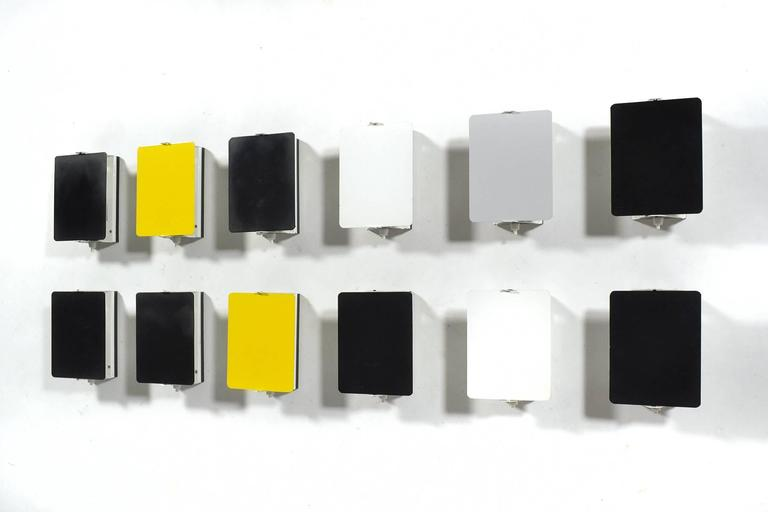 Mid-20th Century Charlotte Perriand Rare Set of 12 CP-1 Wall Lamps