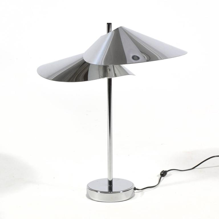 Mid-Century Modern Curtis Jere Chrome Table Lamp For Sale