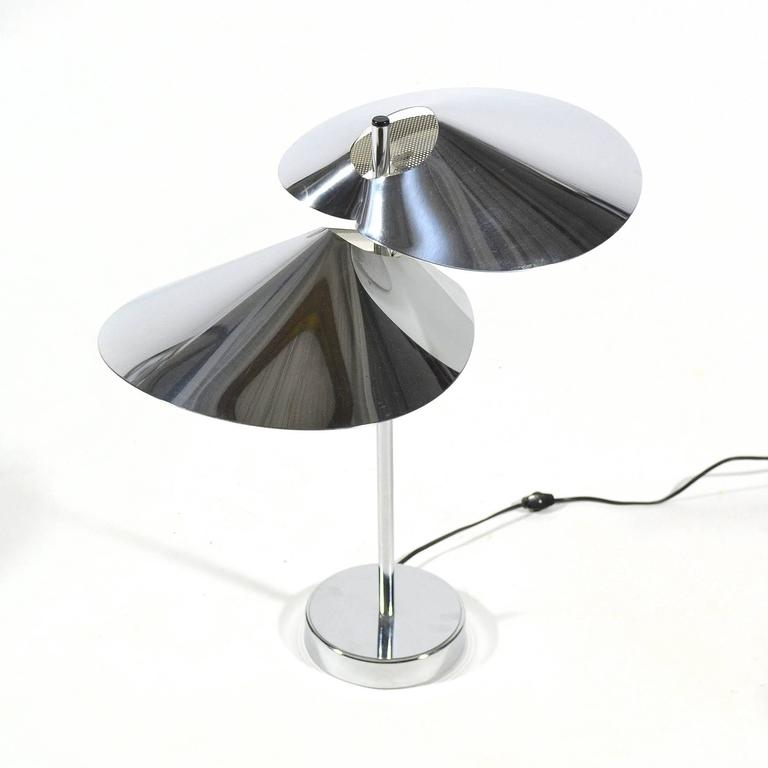 Curtis Jere Chrome Table Lamp In Excellent Condition For Sale In Highland, IN