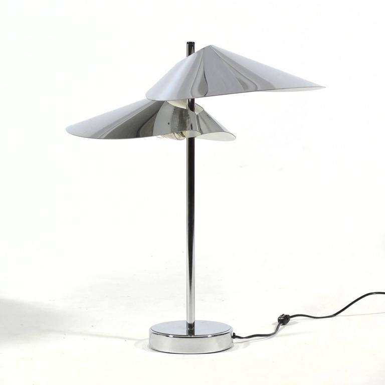 Late 20th Century Curtis Jere Chrome Table Lamp For Sale