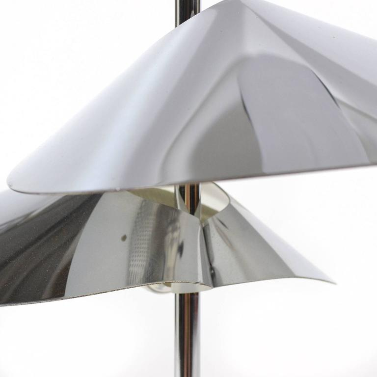 Steel Curtis Jere Chrome Table Lamp For Sale