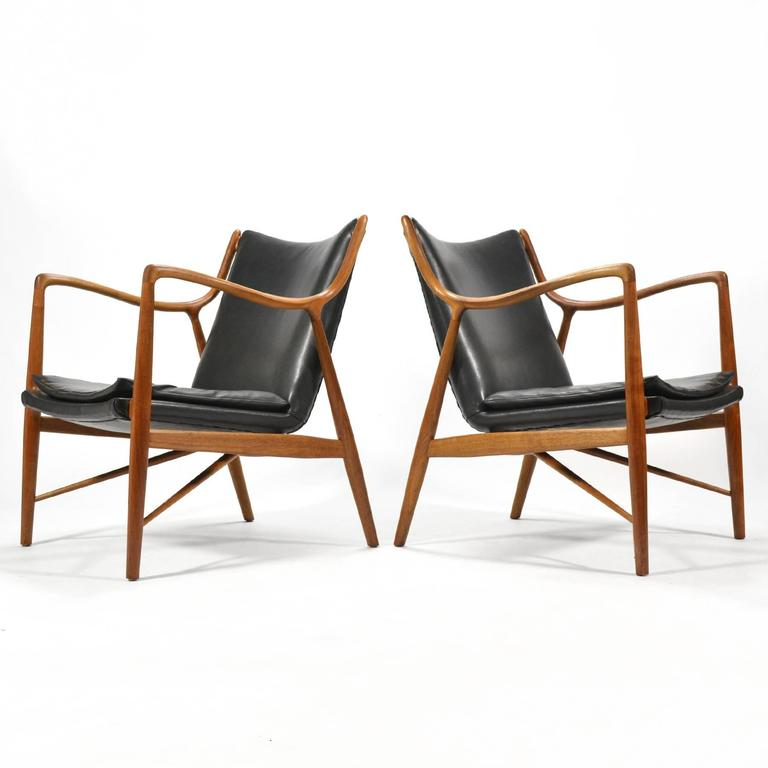 Finn Juhl Pair of No. 45 Easy Chairs 2