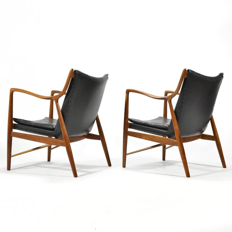 Finn Juhl Pair of No. 45 Easy Chairs 4