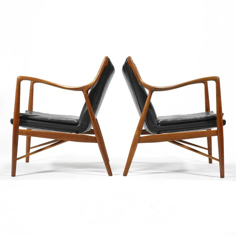 Finn Juhl Pair of No. 45 Easy Chairs 6
