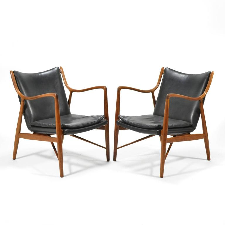 Finn Juhl Pair of No. 45 Easy Chairs 7