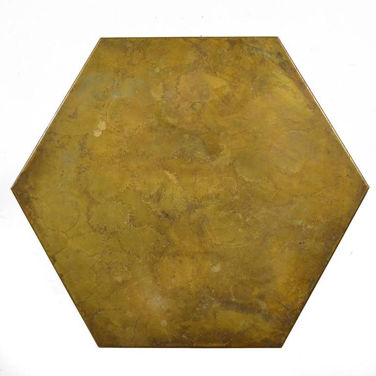 Harvey Probber Hexagonal Side Table with Bronze Top 6