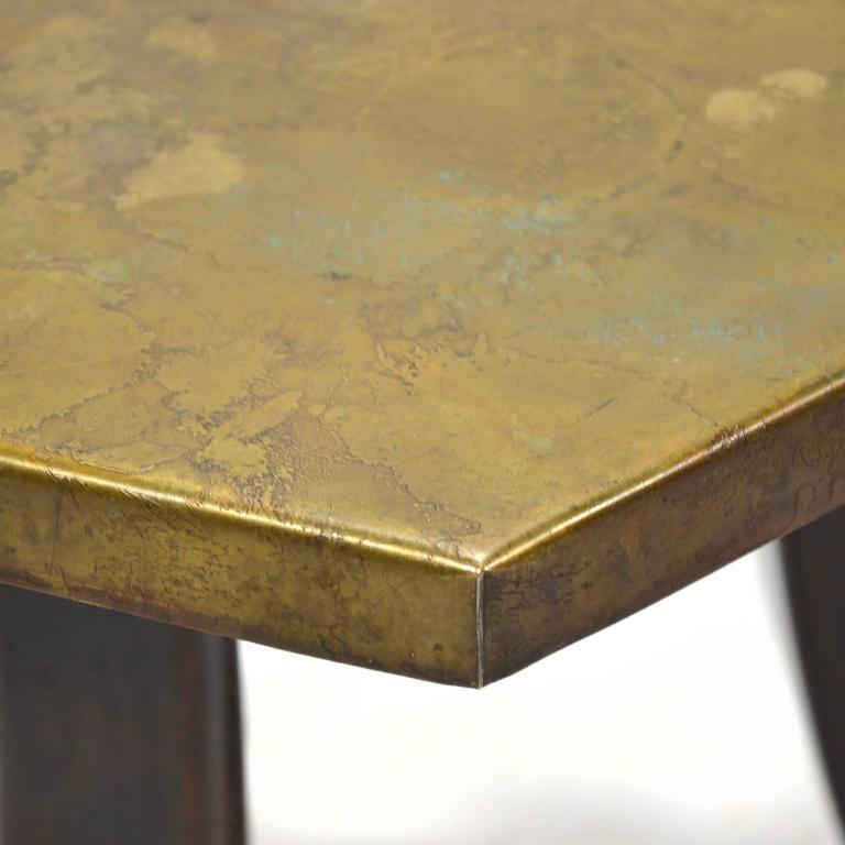Harvey Probber Hexagonal Side Table with Bronze Top 8