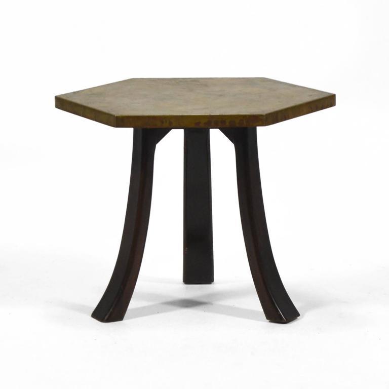 Harvey Probber Hexagonal Side Table with Bronze Top 9