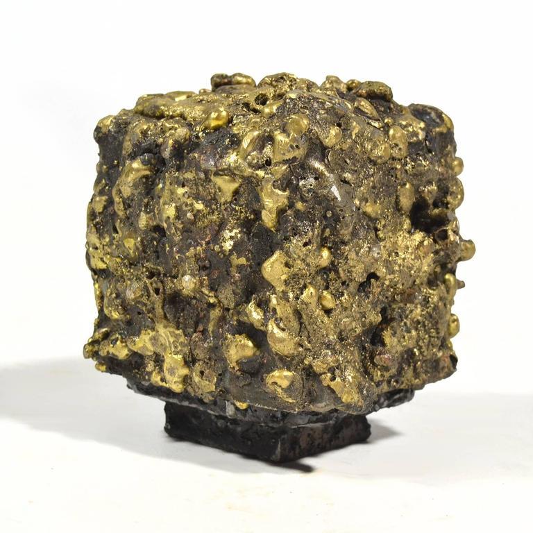 """James Bearden Steel and Bronze """"Barnacle Box"""" Sculpture/Trinket Box 2"""
