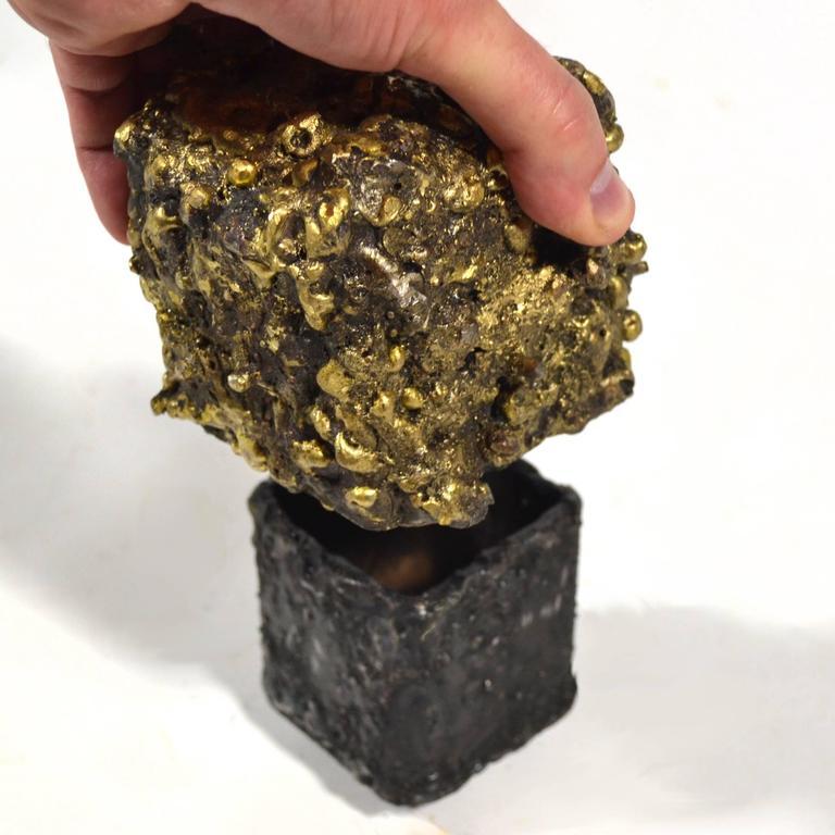 """James Bearden Steel and Bronze """"Barnacle Box"""" Sculpture/Trinket Box 3"""