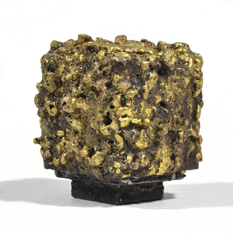 """James Bearden Steel and Bronze """"Barnacle Box"""" Sculpture/Trinket Box 5"""