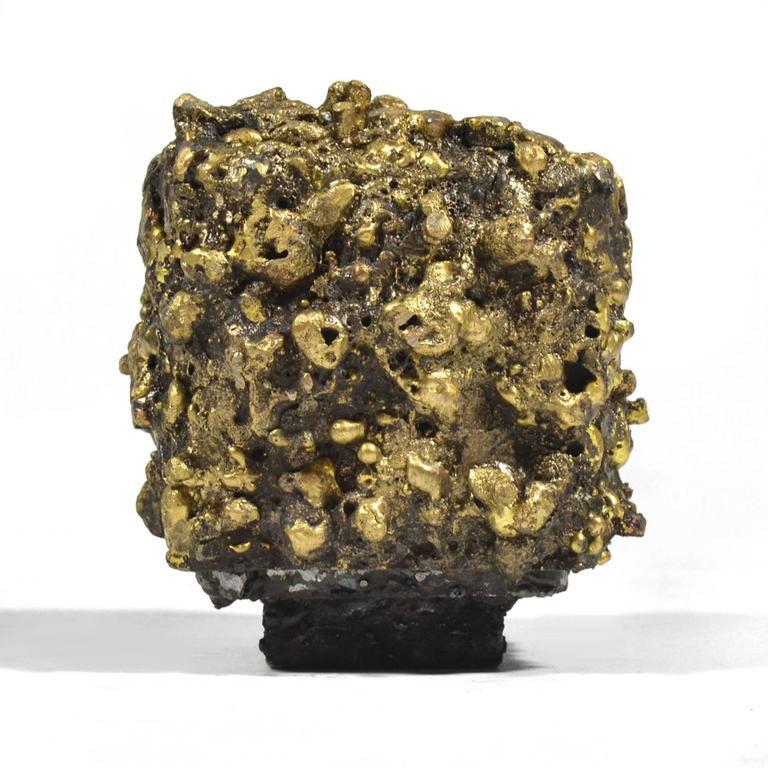 """James Bearden Steel and Bronze """"Barnacle Box"""" Sculpture/Trinket Box 7"""