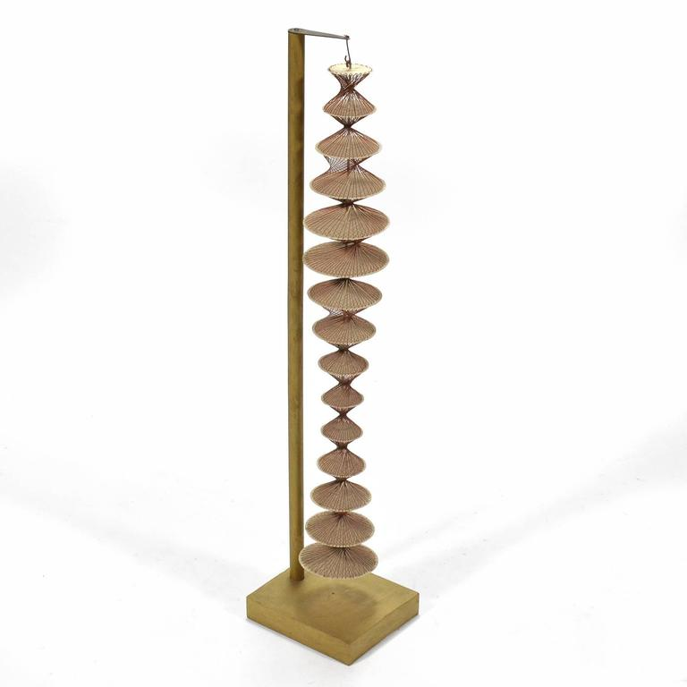 Abstract Geometric Sculpture in Steel and String For Sale 1