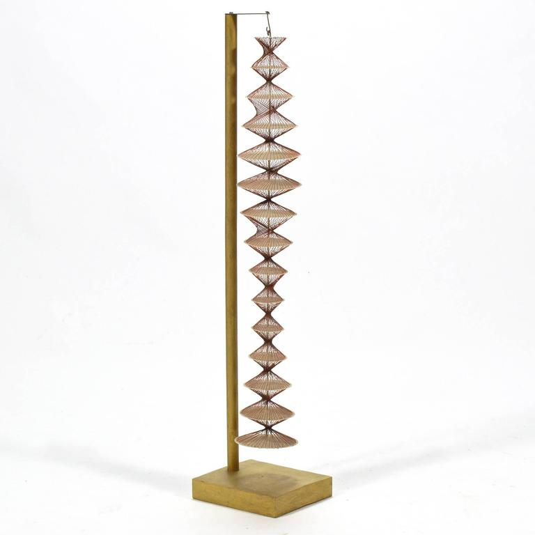 Abstract Geometric Sculpture in Steel and String For Sale 2
