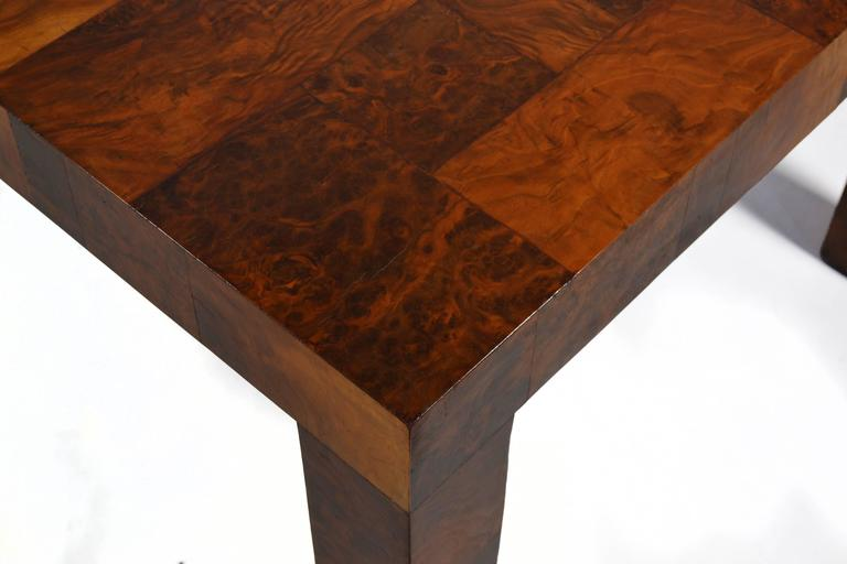 Paul Evans Parsons Table in Burl Patchwork For Sale 2