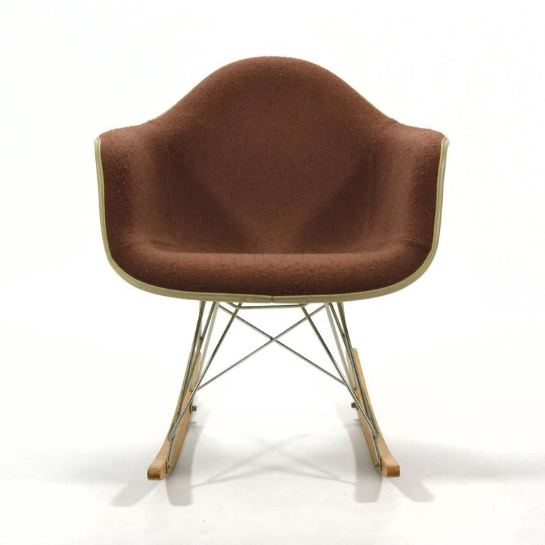 "Mid-Century Modern Eames ""Baby Rocker"" Rar by Herman Miller with Alexander Girard Upholstery For Sale"