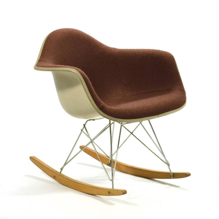 "American Eames ""Baby Rocker"" Rar by Herman Miller with Alexander Girard Upholstery For Sale"