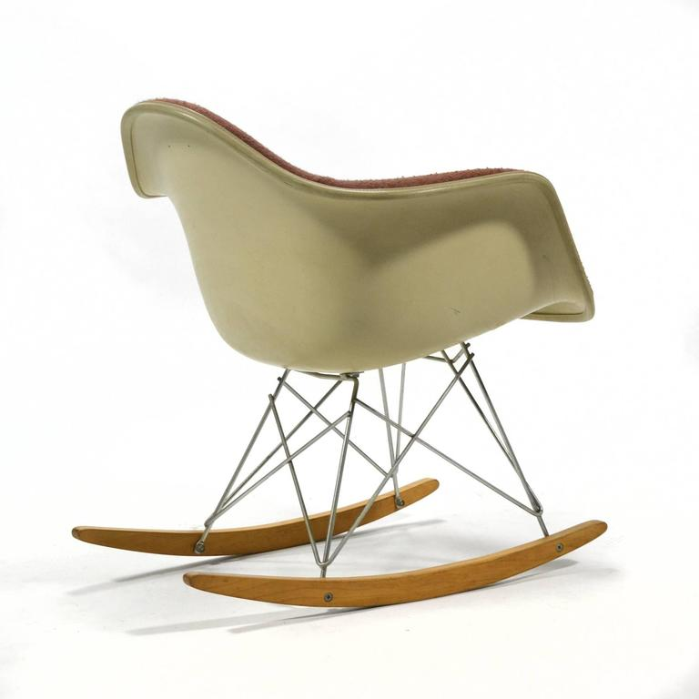 "Mid-20th Century Eames ""Baby Rocker"" Rar by Herman Miller with Alexander Girard Upholstery For Sale"