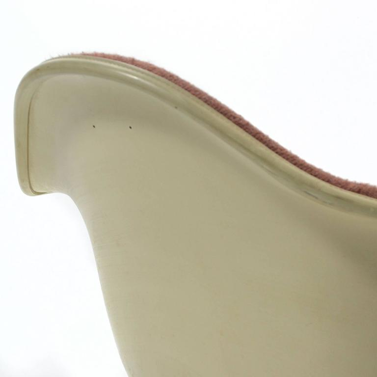 "Steel Eames ""Baby Rocker"" Rar by Herman Miller with Alexander Girard Upholstery For Sale"