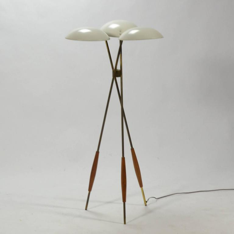 Gerald Thurston Tripod Floor Lamp by Lightolier 2