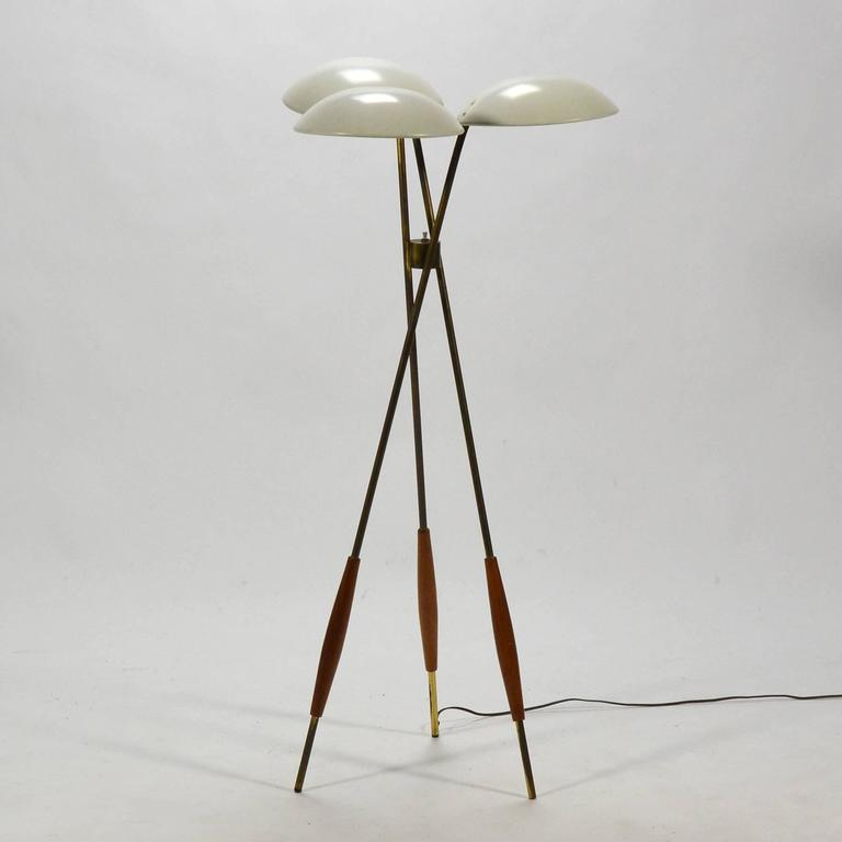 Gerald Thurston Tripod Floor Lamp by Lightolier 3