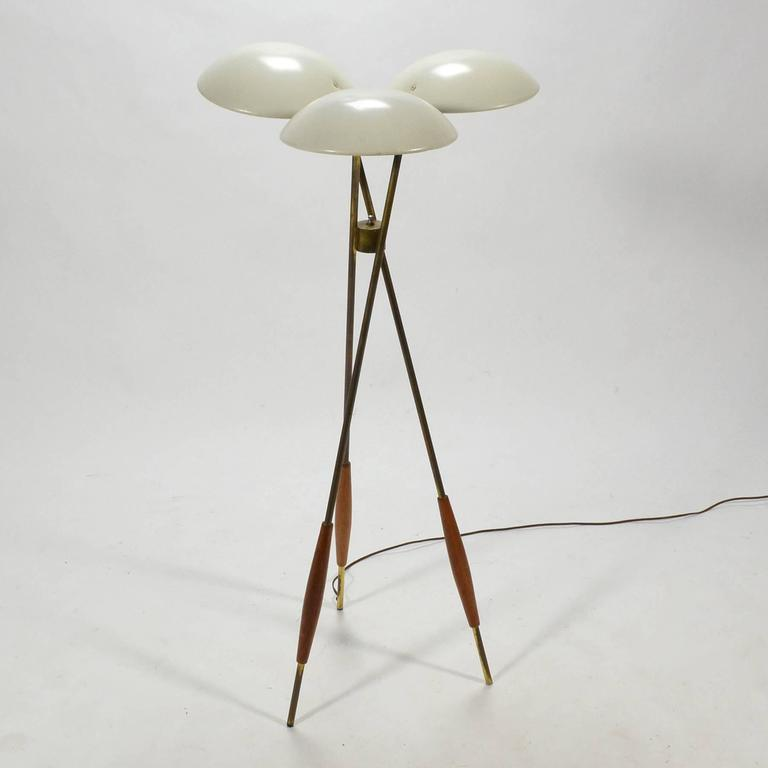 Gerald Thurston Tripod Floor Lamp by Lightolier 4