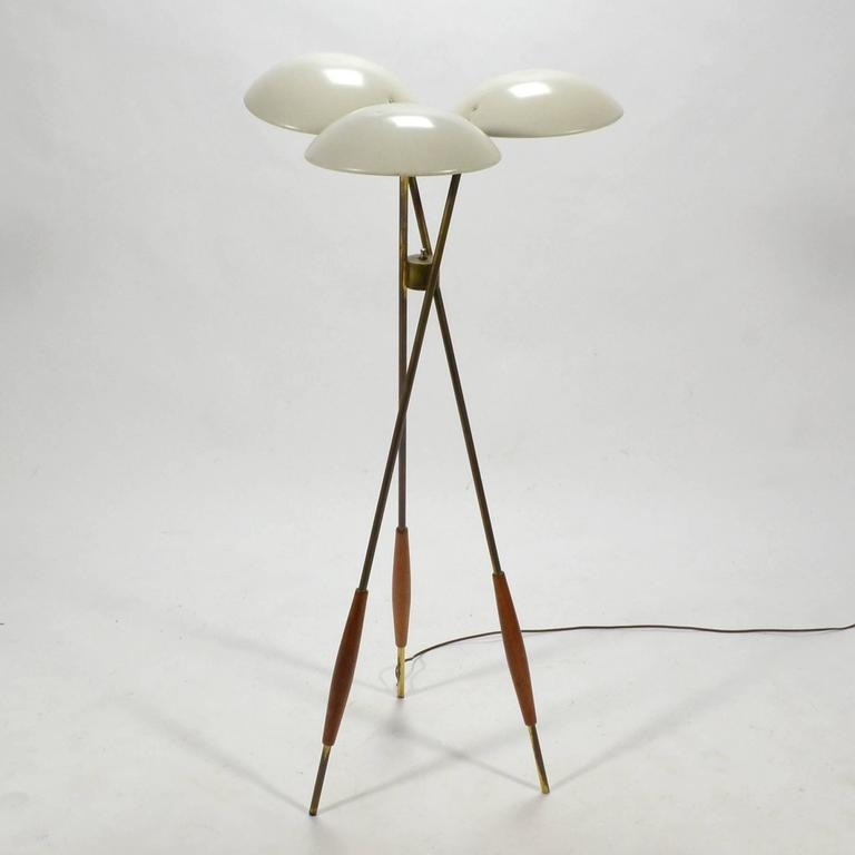 Gerald Thurston Tripod Floor Lamp by Lightolier 9