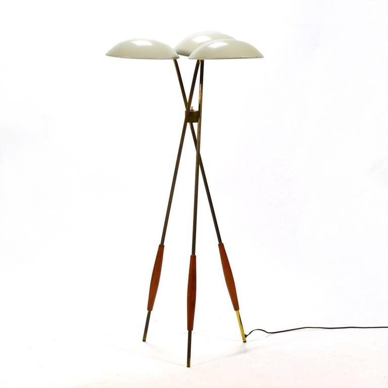Gerald Thurston Tripod Floor Lamp by Lightolier 10