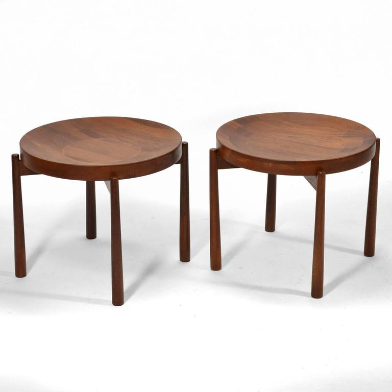 Swedish Solid Teak Flip-Top Tables in the Manner of Jens Quistgaard For Sale 4