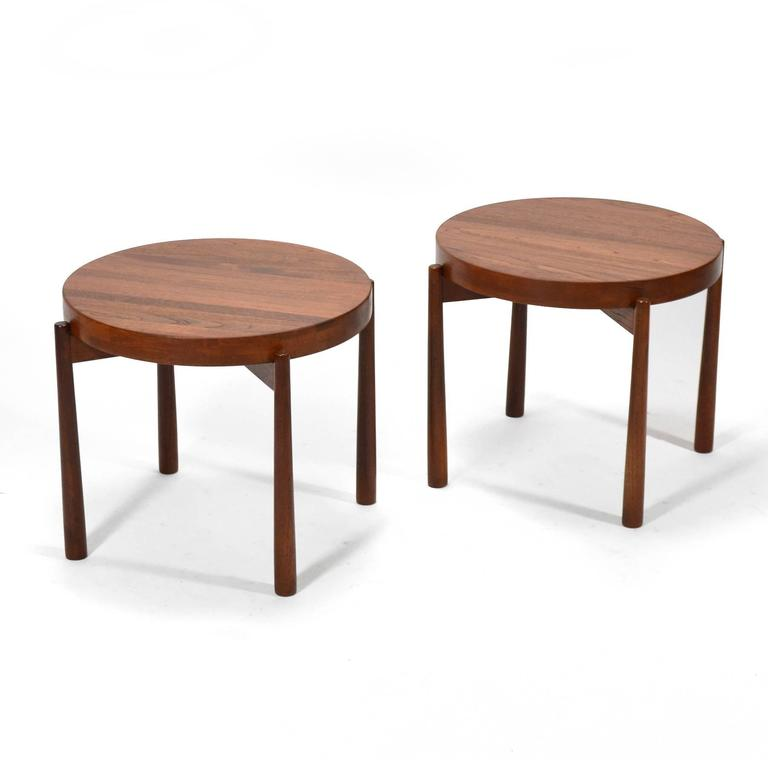 Swedish Solid Teak Flip-Top Tables in the Manner of Jens Quistgaard 3