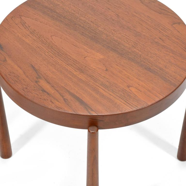 Swedish Solid Teak Flip-Top Tables in the Manner of Jens Quistgaard In Excellent Condition For Sale In Highland, IN