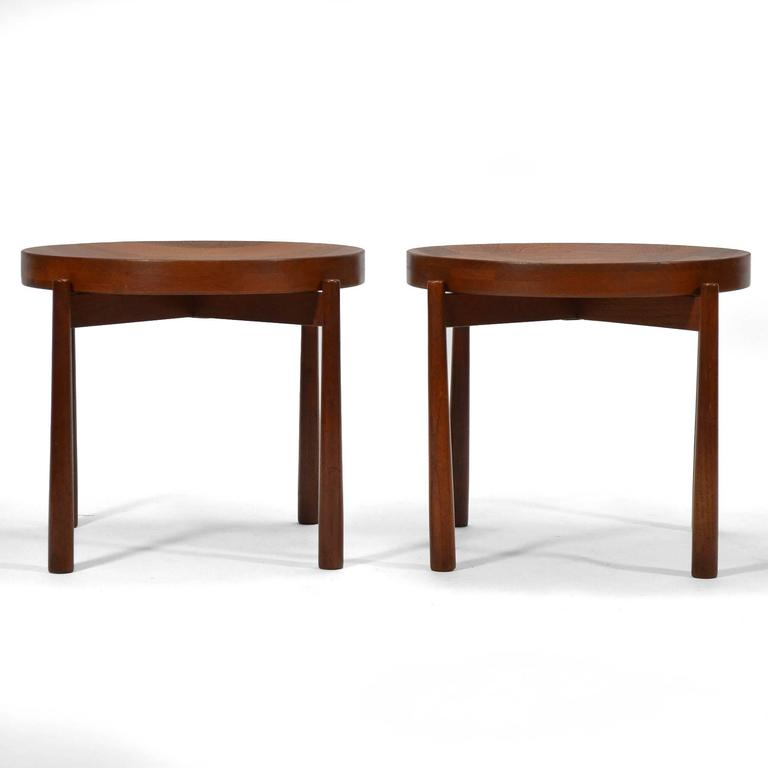 Swedish Solid Teak Flip-Top Tables in the Manner of Jens Quistgaard For Sale 1