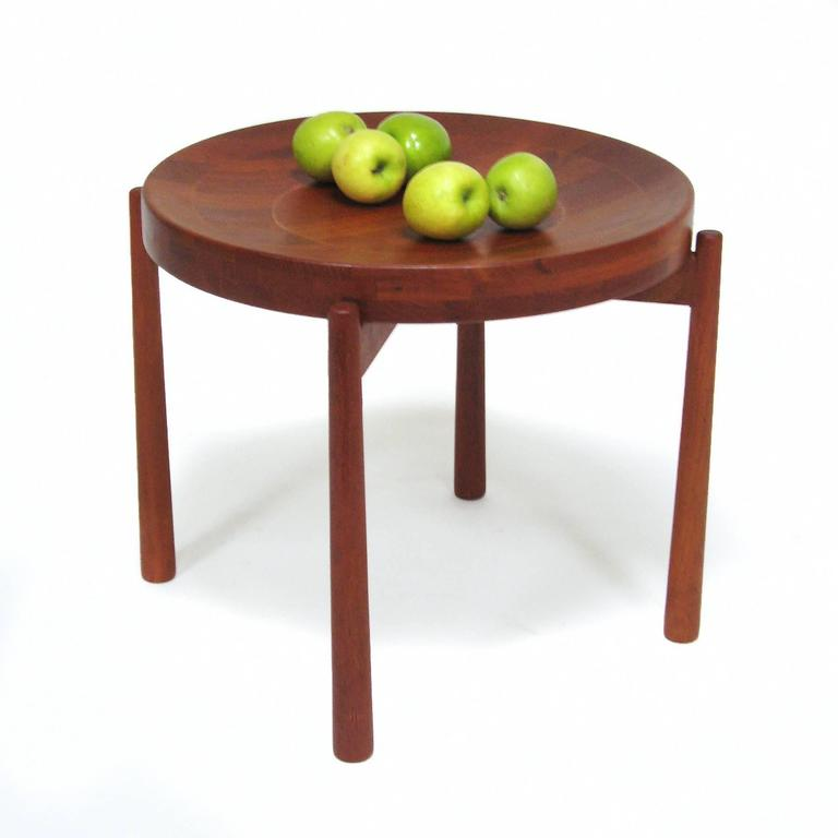 Swedish Solid Teak Flip-Top Tables in the Manner of Jens Quistgaard For Sale 2