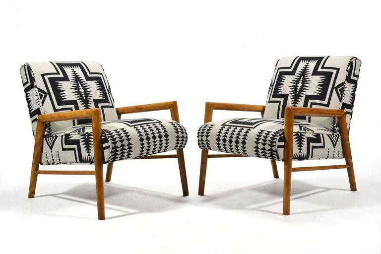 Leslie Diamond Pair of Lounge Chairs by Conant Ball 2