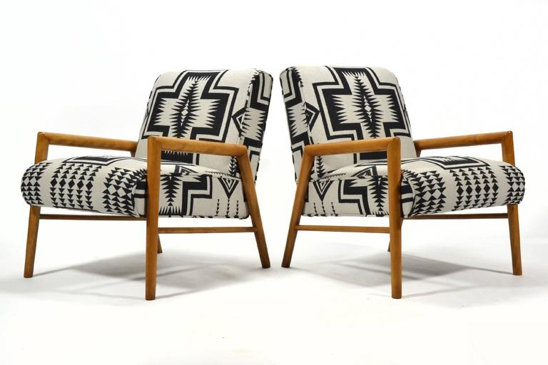 Leslie Diamond Pair of Lounge Chairs by Conant Ball 3