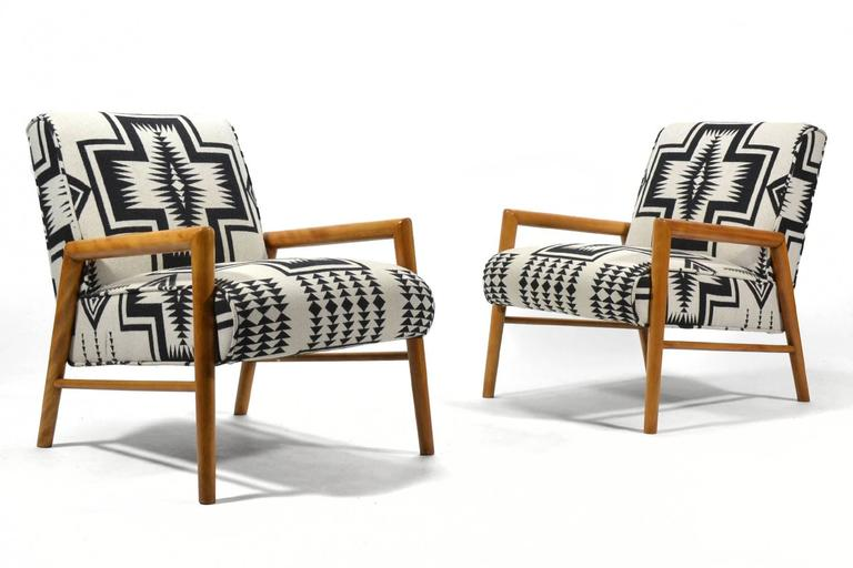Leslie Diamond Pair of Lounge Chairs by Conant Ball 4