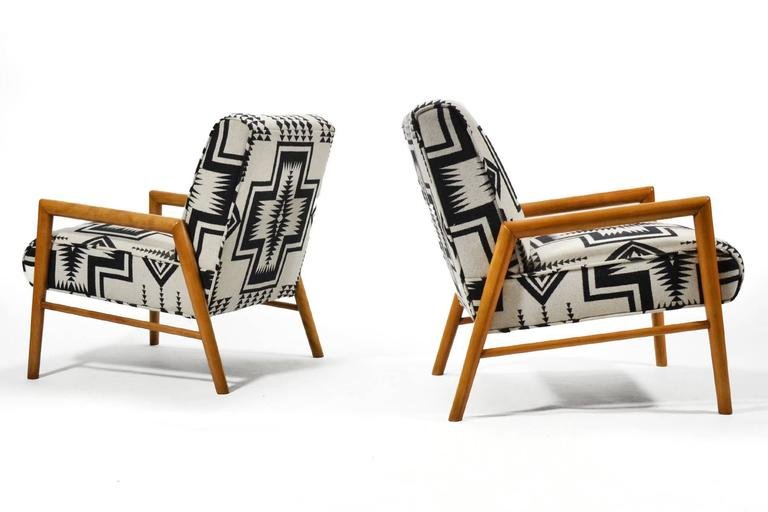Leslie Diamond Pair of Lounge Chairs by Conant Ball 5