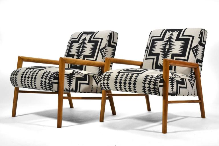 Leslie Diamond Pair of Lounge Chairs by Conant Ball 6