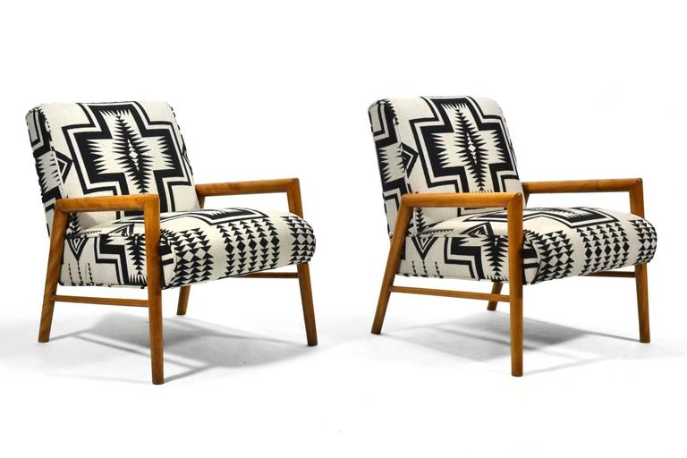 Leslie Diamond Pair of Lounge Chairs by Conant Ball 7